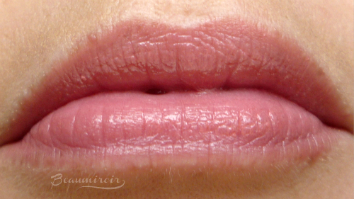 Lip swatch Lancome Shine Lover lipstick in Twisted Beige