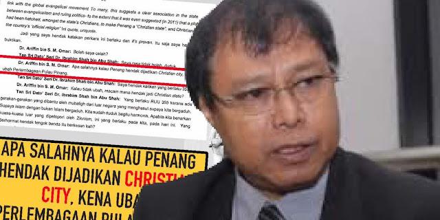 PAS Selar DAP Mahu Jadi P.Pinang Bandar Kristian