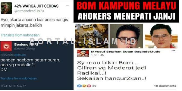 Ternyata Sebelum Bom Meledak, Heboh Ancaman Pemboman Jakarta Pasca Kekalahan Ahok di Sosmed