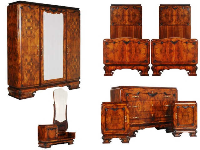 antique vintage art deco bedroom furniture sets