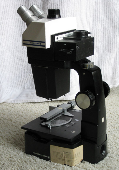 "bausch and Lomb stereo 7 microscope with ""B"" stand"