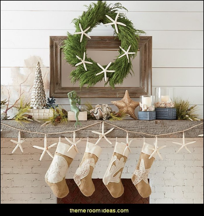 Coastal Christmas Decorating Theme Decor Beach Decorations