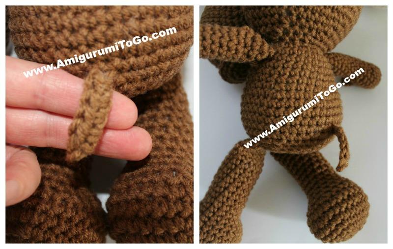 Amigurumitogo Moose : Large crochet moose free pattern amigurumi to go