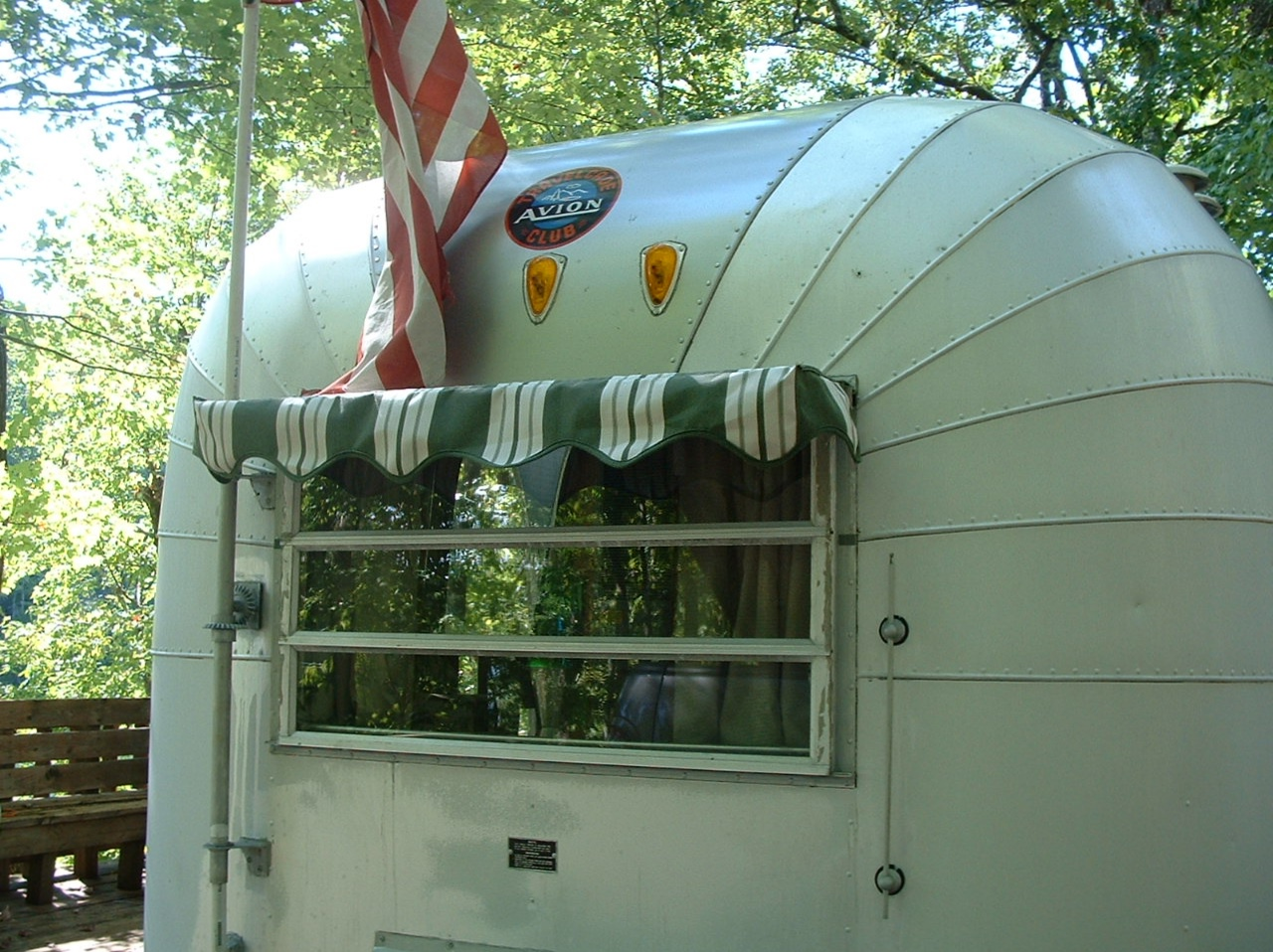 Vintage Awnings Avion With Small Decorative Window Awning
