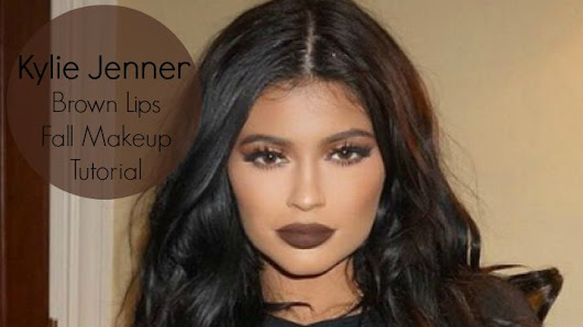 Kylie Jenner Inspired Tutorial | Brown Lips | Fall Makeup 2015!