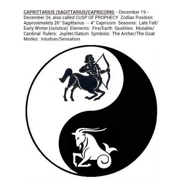 Sagittarius Cusp Signs Capricorn Horoscopes