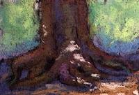 Thumbnail sketch in soft pastels by Manju Panchal