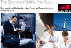 GSMA launches European Mobile Manifesto to boost economy, protect consumers, increase the use of green technology
