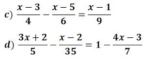 Ecuaciones con denominadores resueltas paso a paso
