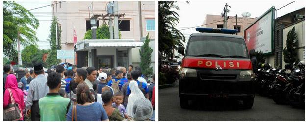 Kantor BPJS Medan setiap hari ramai sekali orang. Petugas kepolisian setempat berjaga-jaga untuk ketertiban dan keamanan