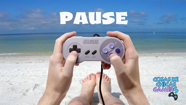 chicas gamers vacaciones mando y playa