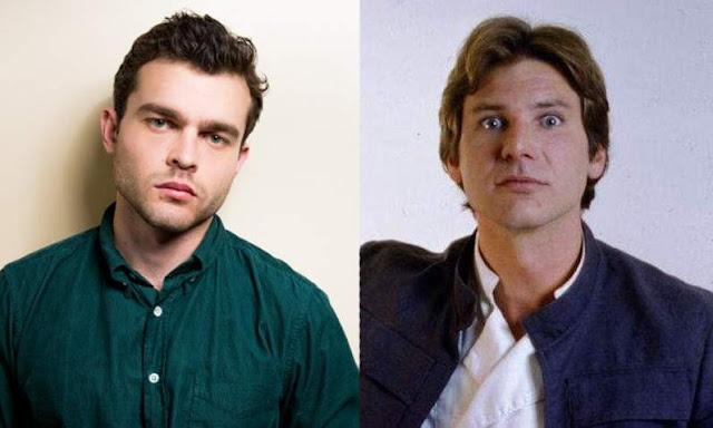 Alden Ehrenreich y Harrison Ford (Han Solo)