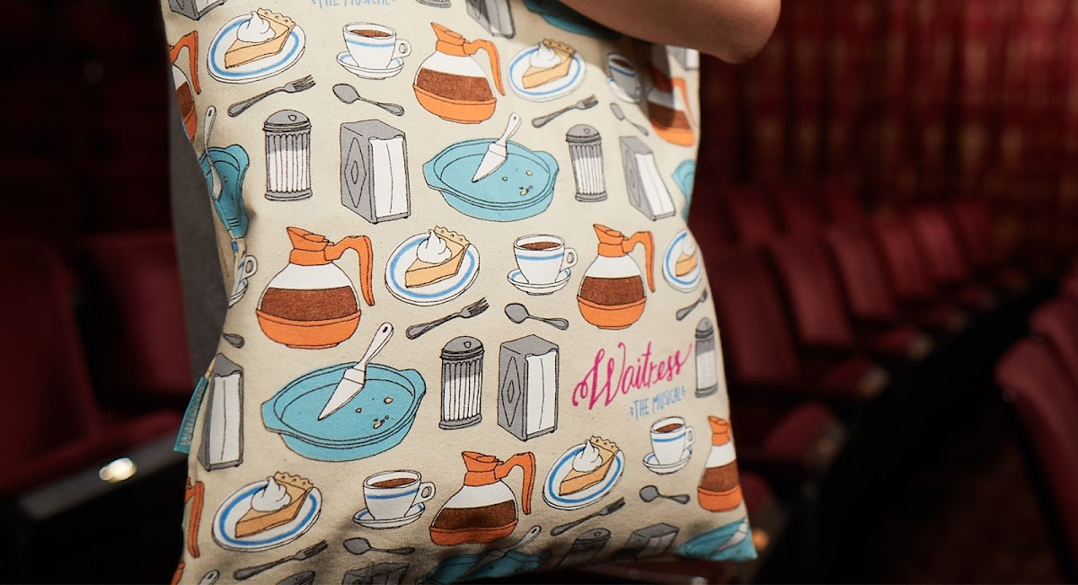 Waitress Musical tote bag