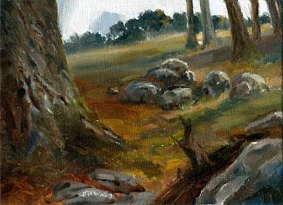 Forest Landscape Oil Painting by Jeff Ward