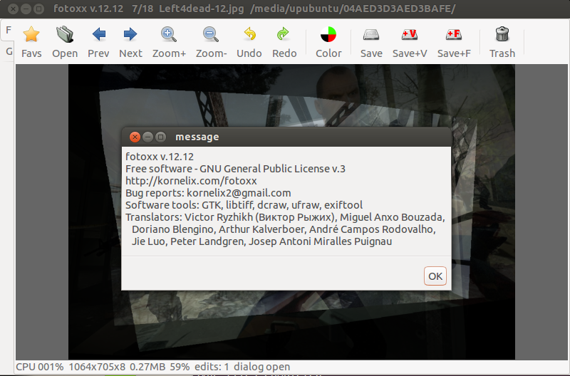 Fotoxx 12 12 Allows Now To Create False Color Images - Ubuntu/Linux Mint