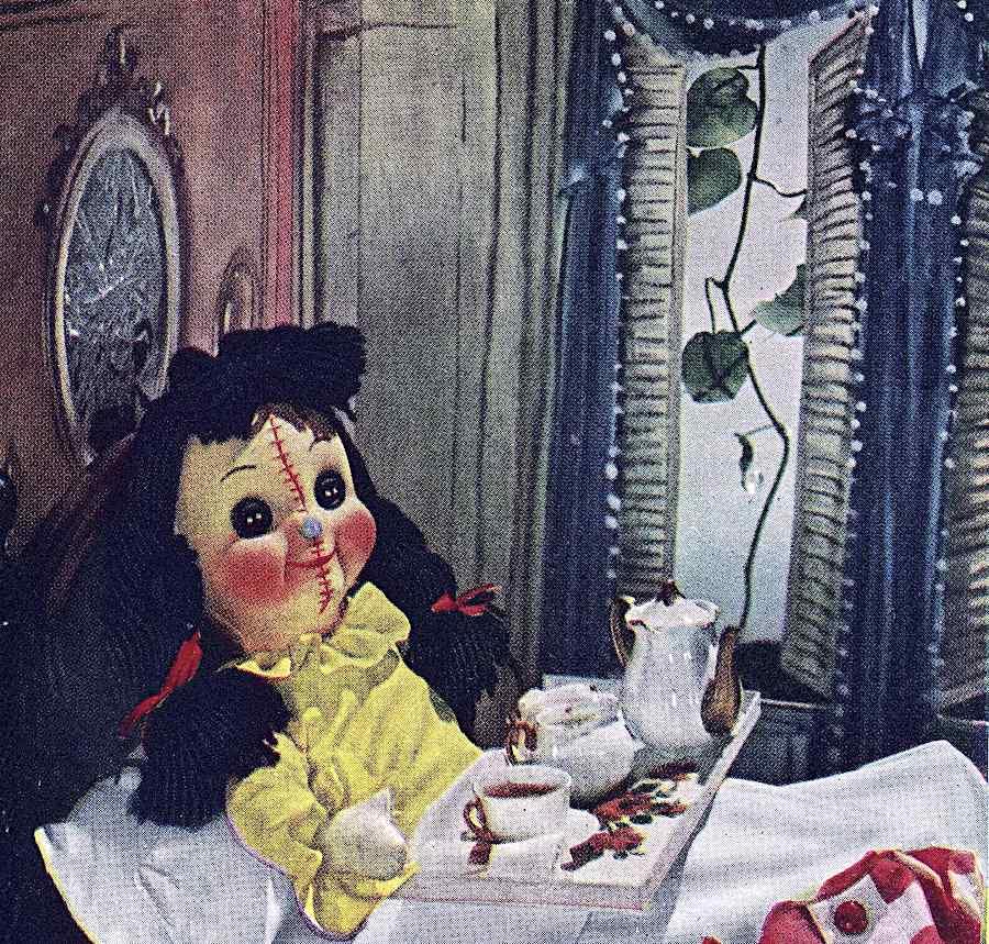 an unintentionally odd doll, disturbing breakfast in bed