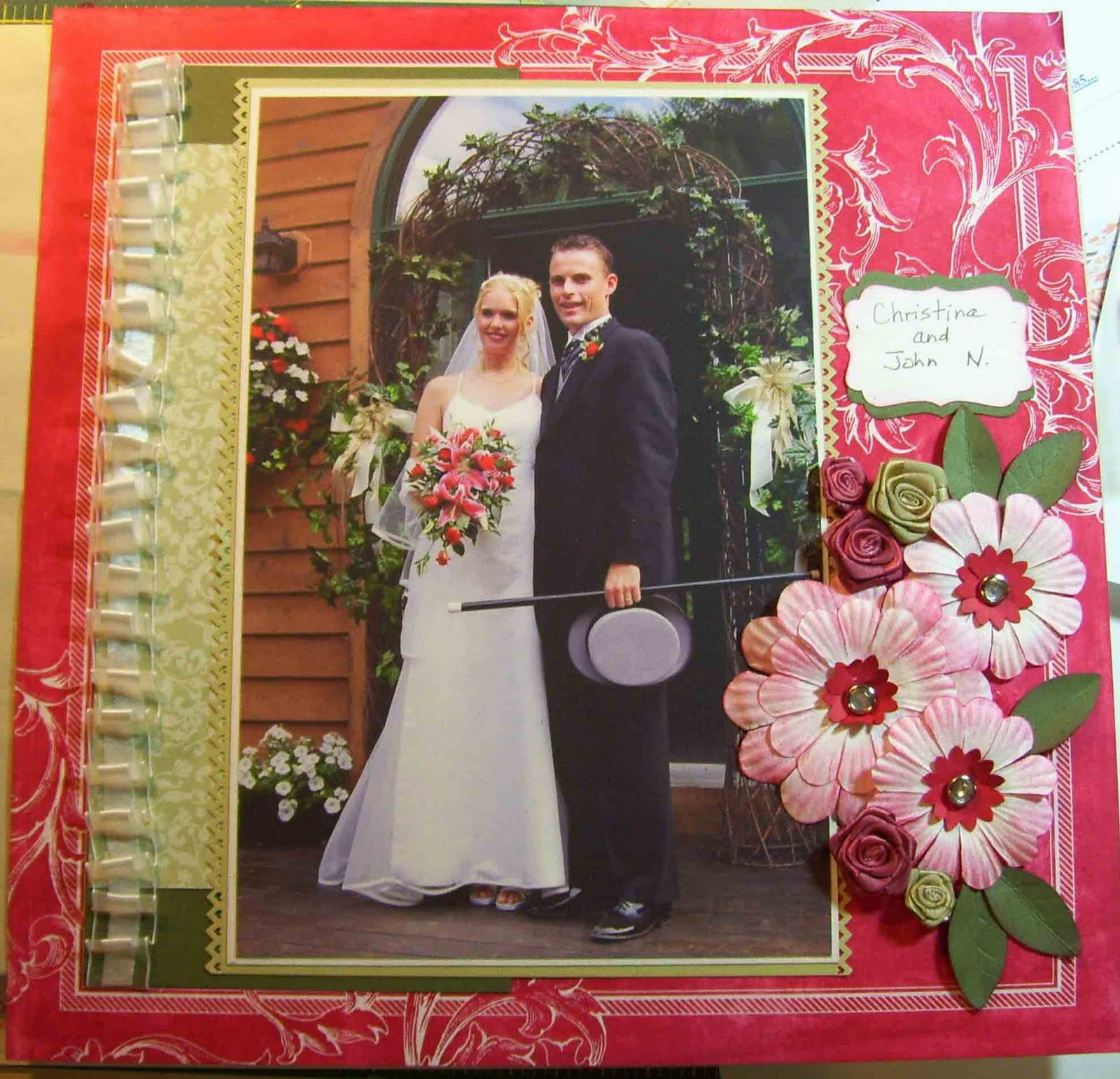 Wedding Scrapbook: Crafty Maria's Stamping World: My Daughter's Wedding