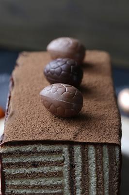 chocolat, gâteau rayé , Pâques