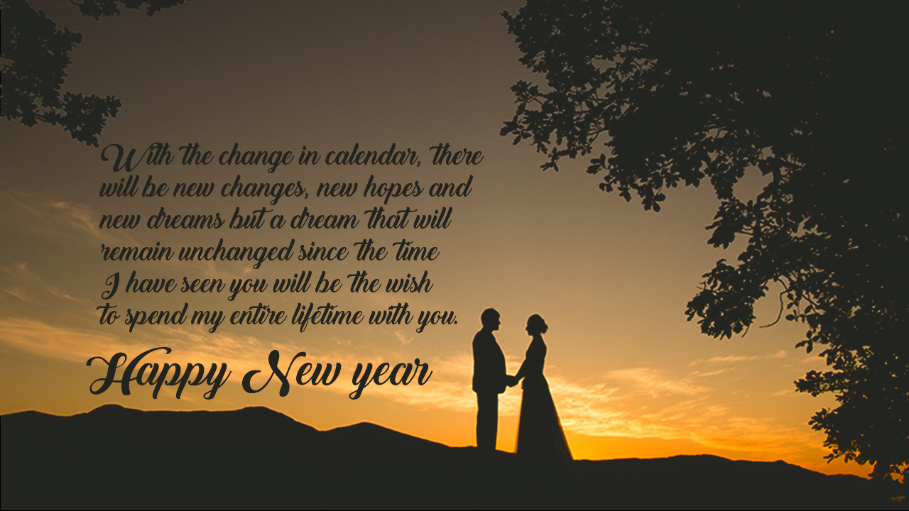 Romantic Happy New Year Messages For My Wife