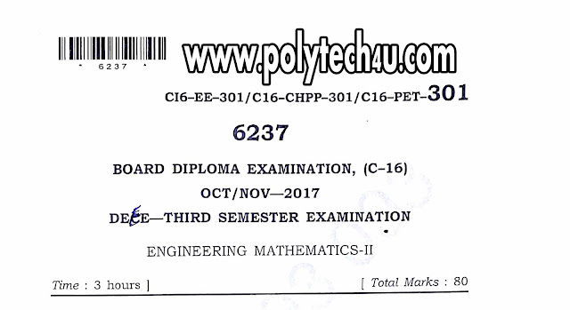 ENGINEERING MATHEMATICS-2 PREVIOUS QUESTION PAPERS EEE C-16 PDF