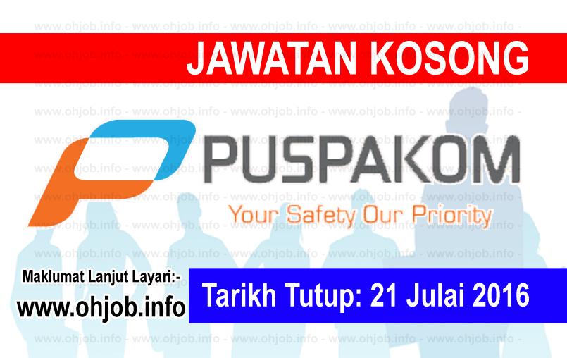 Jawatan Kerja Kosong PUSPAKOM Sdn Bhd logo www.ohjob.info julai 2016
