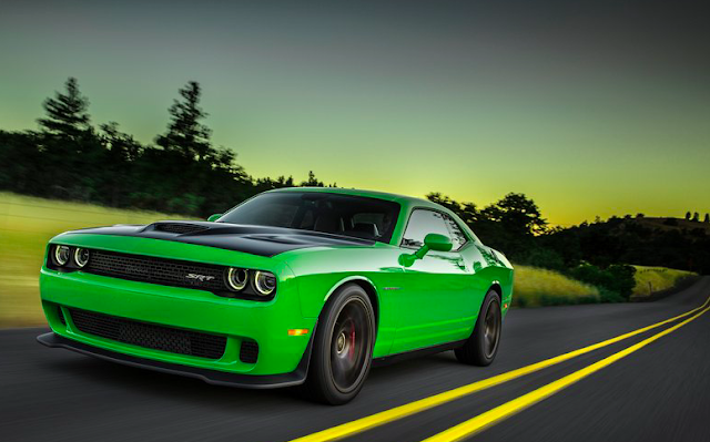 2016 Dodge Challenger SRT Hellcat green