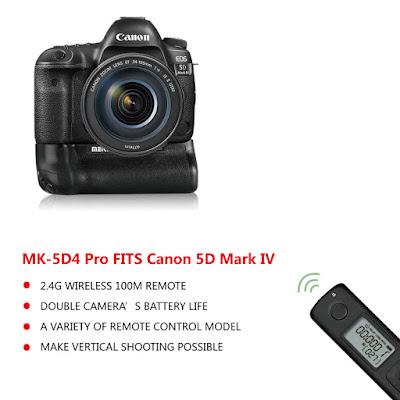 شركة Meike تُعلن عن بطارية إضافية وريموت كنترول لكاميرا Canon 5D Mark IV
