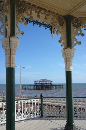 brighton seafront front mer bandstand west pier