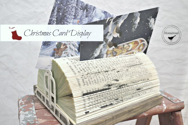 Folded Book Christmas Card Display www.homeroad.net