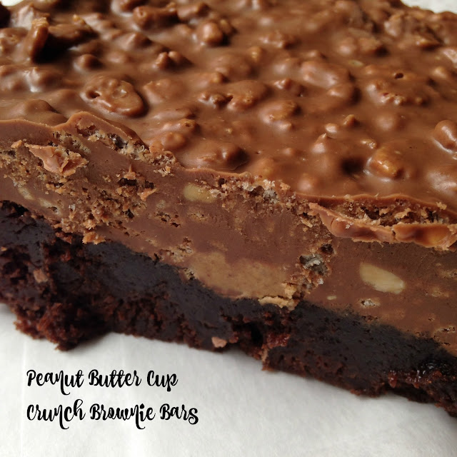 Turnips 2 Tangerines: Peanut Butter Cup Crunch Brownie Bars
