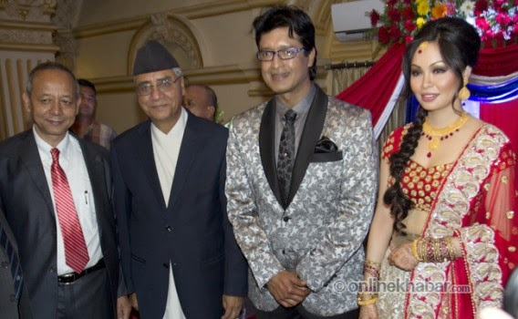 rajesh hamal and madhu bhattarai wedding, sher bahadur deuwa