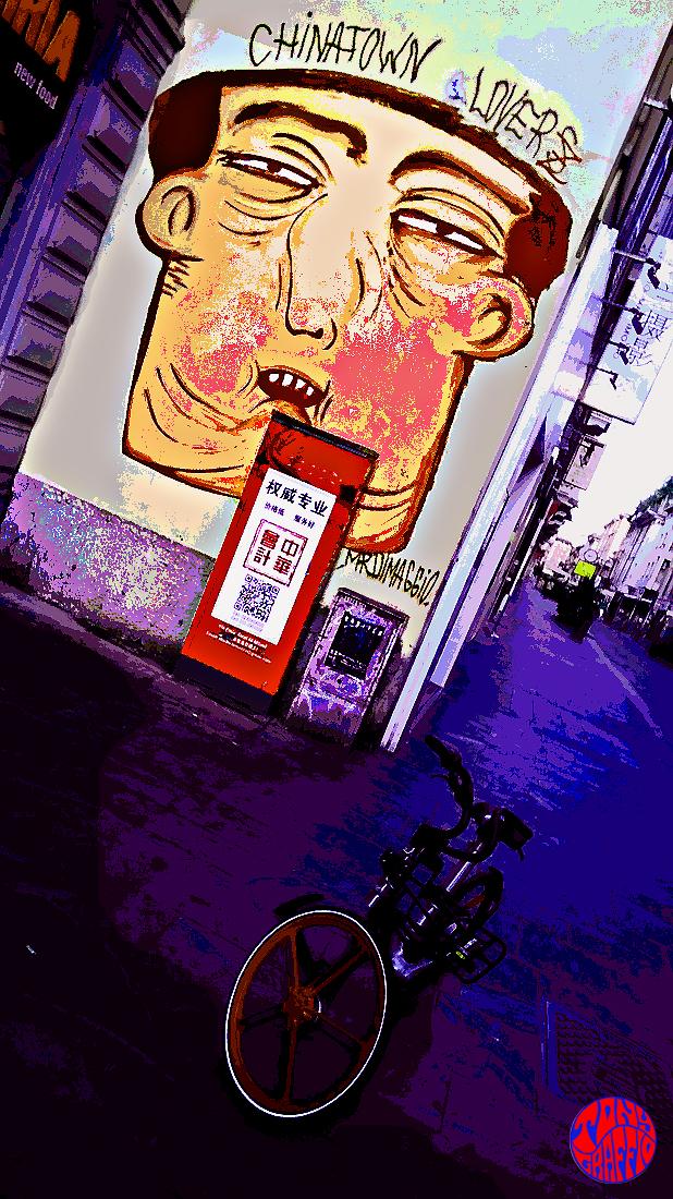 Faccione cinese graffito Paolo Sarpi