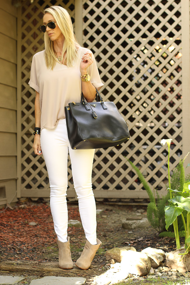 lush cuff sleeve top taupe