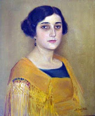 Anselmo Miguel Nieto, Retrato de señora, Pintura Española, Pintores Españoles, Pintor Español, Retratos de Anselmo Miguel Nieto
