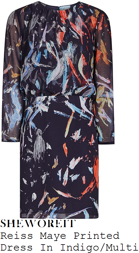 holly-willoughby-navy-blue-multi-paint-brushstroke-print-long-sleeve-dress-this-morning