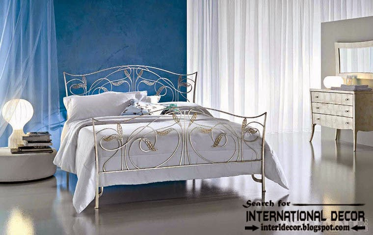 classic Italian wrought iron beds and headboards 2015, white wrought iron bed