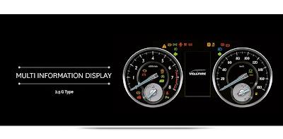 vellfire multi-information display