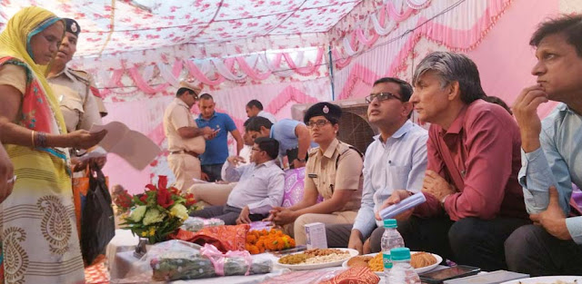 Night stand, listen problem in Rasulpur village of Palwal DC Maniram Sharma