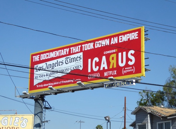 Consider Icarus documentary billboard
