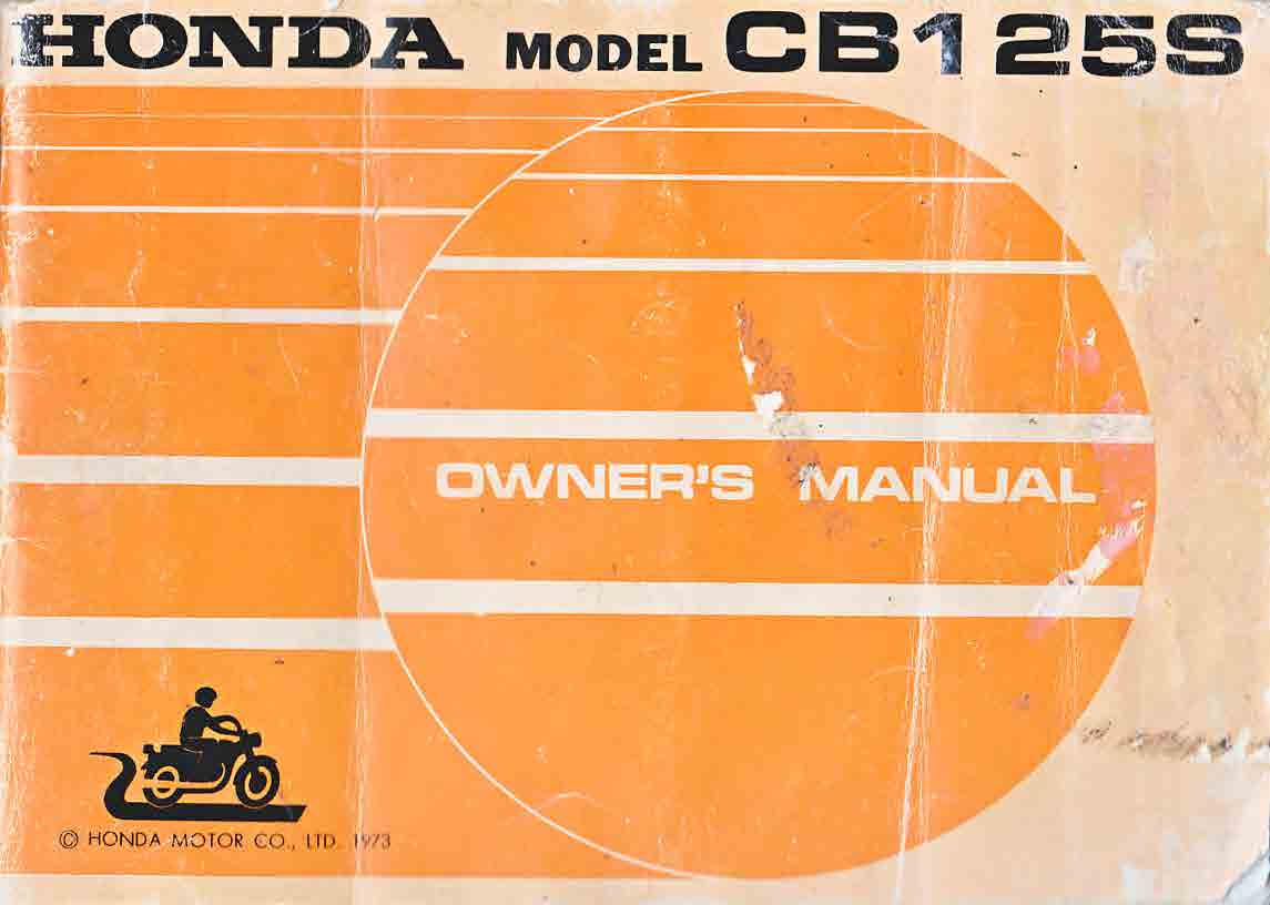 Honda CB125S Owner's Manual
