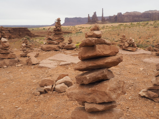 Stones in Monument Valley