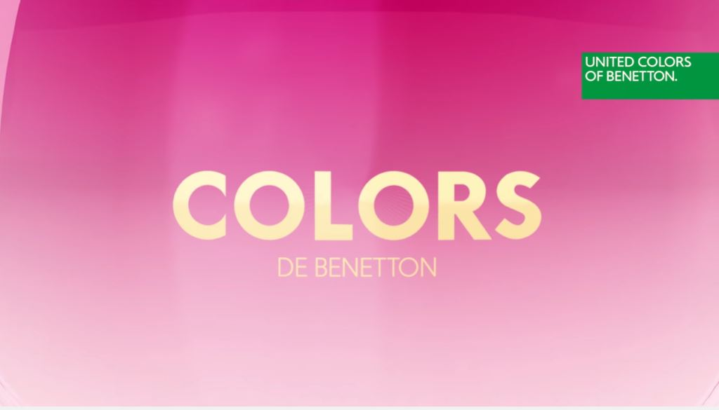 model benetton colors profumo modella testimonial spot 2016