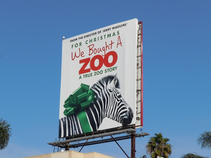 Zebra We Bought a Zoo billboard