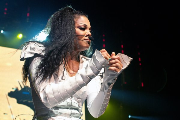Janet Jackson performing live