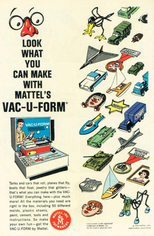 MTSC's News From The Front: Toys in the Attic - Mattel Vac-U-Form