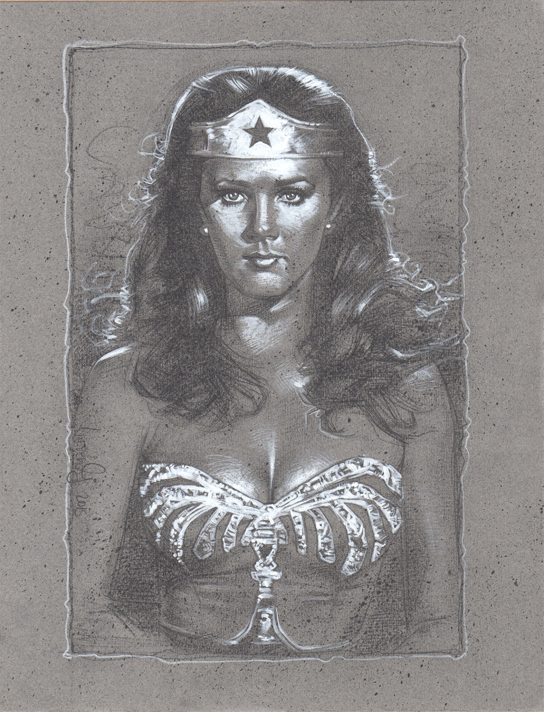 Lynda Carter, Wonder Woman, Artwork is Copyright © 2015 Jeff Lafferty