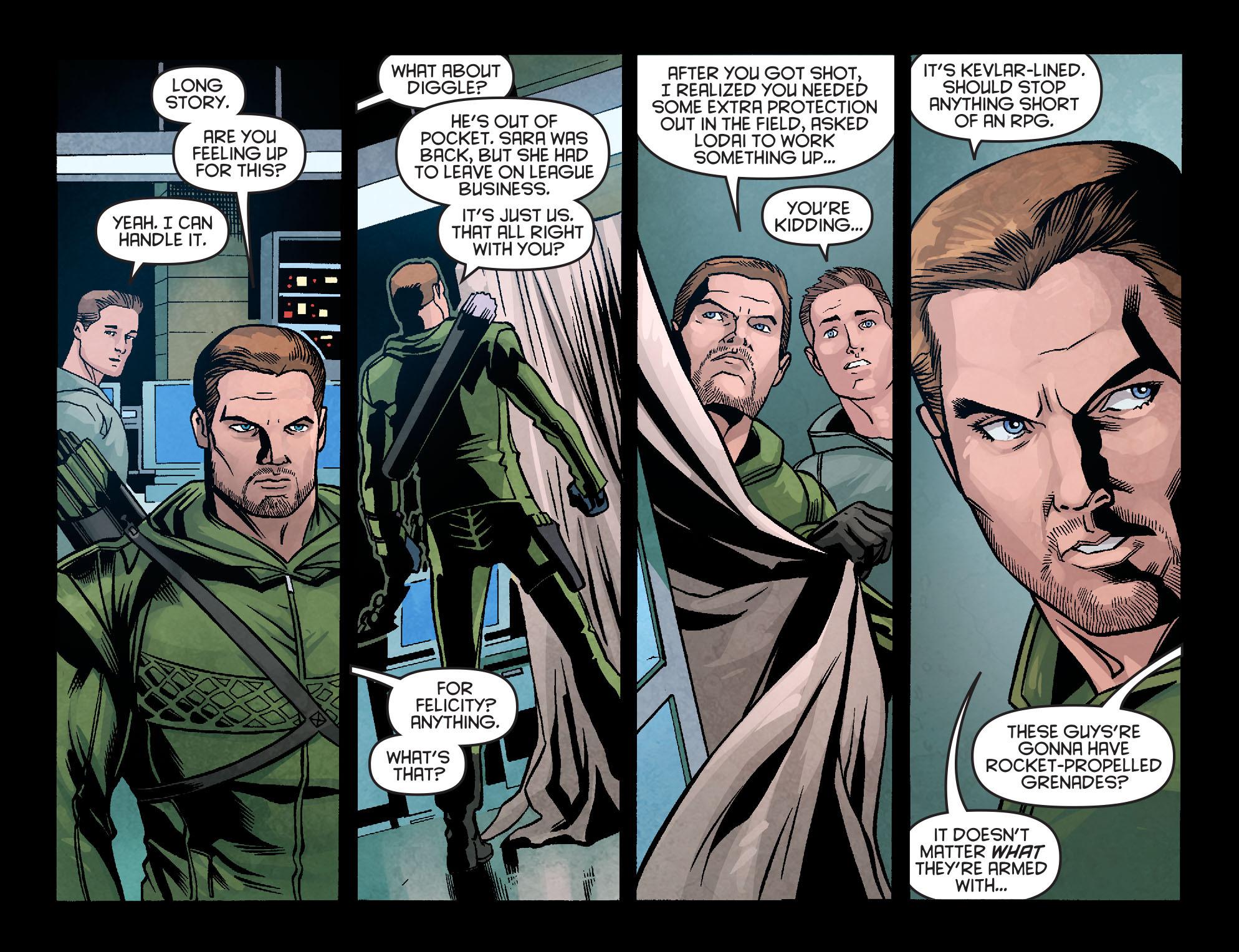 Read online Arrow: Season 2.5 [I] comic -  Issue #10 - 19