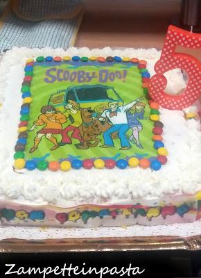 Torta compleanno Scooby Doo con panna