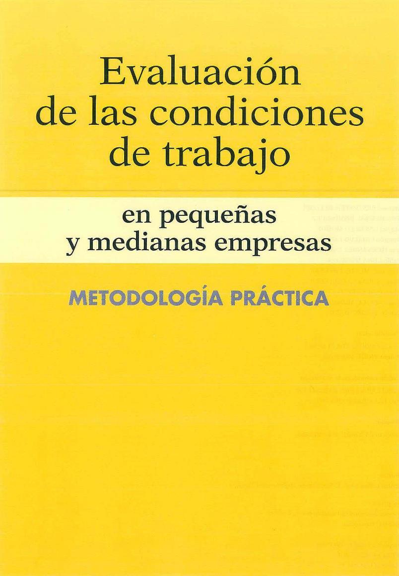 Evaluación de las condiciones de trabajo en pequeñas y medianas empresas: Metodología práctica
