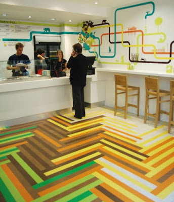 funny 3d flooring with epoxy paint for customer service branch